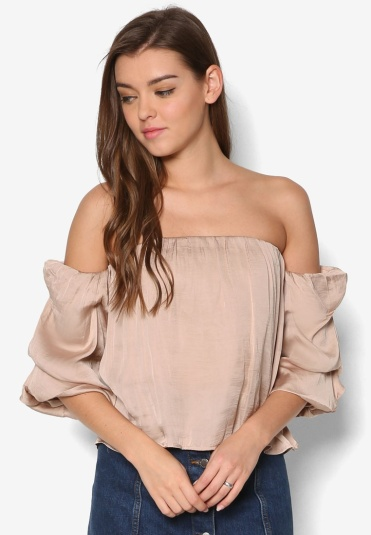 Zalora Floral Off-Shoulder Top