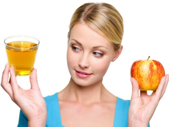 Dab apple cider vinegar